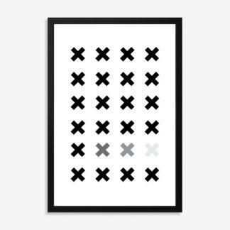 Bộ 2 tranh khung kính treo tường X&O 50x70 cm