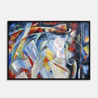 Người nghệ sĩ - Tranh canvas chân dung treo tường 50 x 70 cm