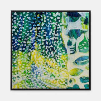 Sắc xanh - Tranh canvas trừu tượng treo tường 80 x 80 cm
