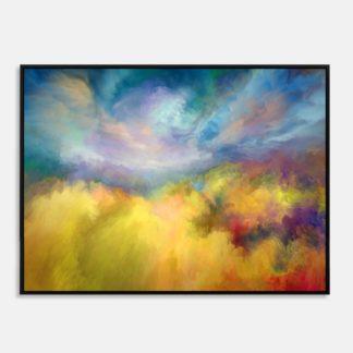 Đa sắc - Tranh canvas trừu tượng treo tường 60 x 80 cm