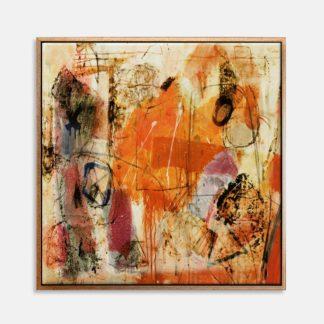 Cam phá cách - Tranh canvas trừu tượng 80x80cm
