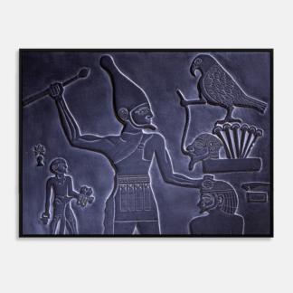 Điêu khắc cổ - Tranh canvas chân dung treo tường 50 x 70 cm