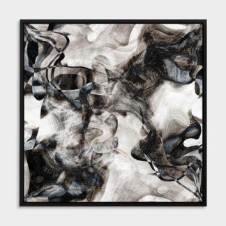Tranh canvas treo tường trắng đen trừu tượng Sóng Màu