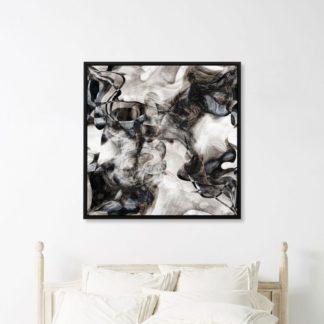 Sóng Màu - Tranh canvas treo tường trừu tượng 50x50 cm