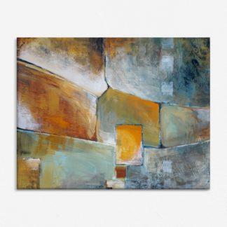 Mảng khối ô màu - Tranh canvas treo tường 80x120 cm