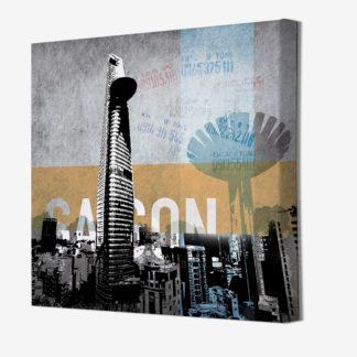 Sài Gòn - Tranh Canvas treo tường 80x80 cm