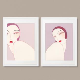 Bộ 2 tranh khung kính treo tường Twins 40x60 cm