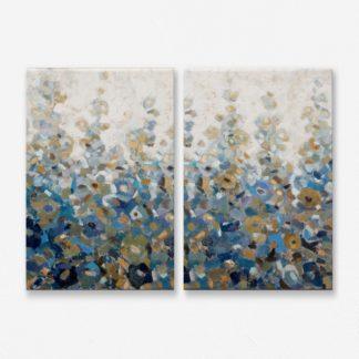 Bộ 2 tranh canvas treo tường Đồng Xanh 50x70 cm/tranh