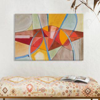 Trừu tượng lập thể - Tranh canvas treo tường 50x70 cm