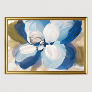 Đoá hoa xanh - Tranh canvas treo tường 40x60 cm
