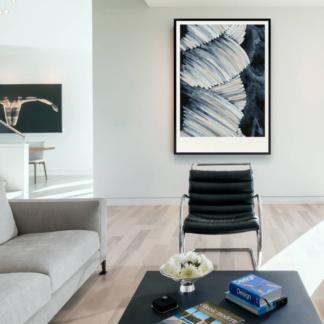 Vệt Màu - Tranh canvas trừu tượng treo tường TT5 50x70 cm