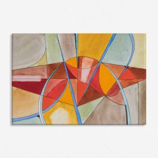 Tranh canvas treo tường trừu tượng hiện đại lập thể sắc màu