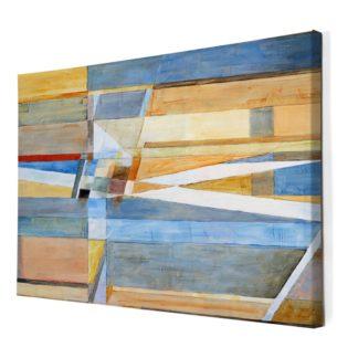 Mảng khối -Tranh canvas treo tường phòng khách 60x80 cm