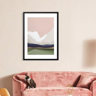 Mây Núi - Tranh khung kính treo tường 40x60 cm