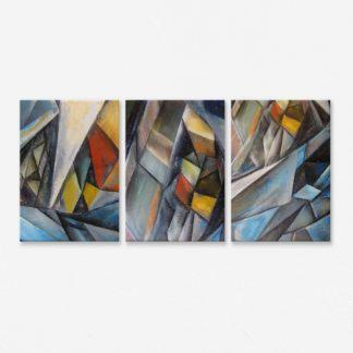 Bộ 3 canvas treo tường Hình học TT4 40x60 cm/tranh
