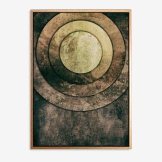 Vàng đồng - Tranh canvas trừu tượng treo tường 50x70 cm