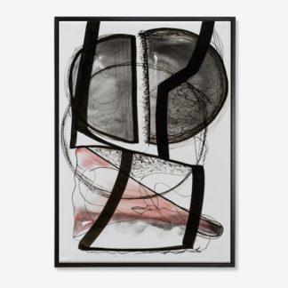 Black Abstract - Tranh canvas trừu tượng treo tường 50x70 cm