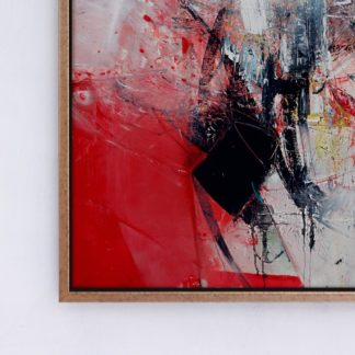 Red Abstract - Tranh canvas trừu tượng treo tường 50x70 cm