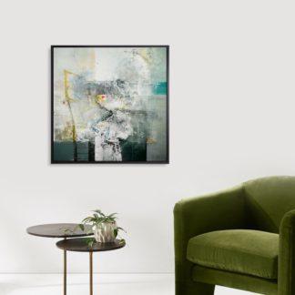 White Light -Tranh canvas trừu tượng treo tường 80x80 cm
