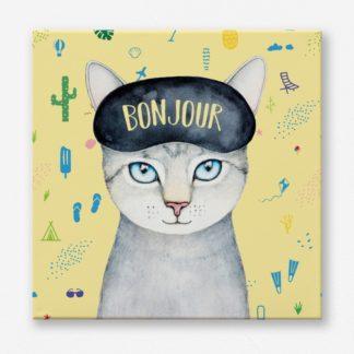 tranh-canvas-treo-truong-meo-Bonjour