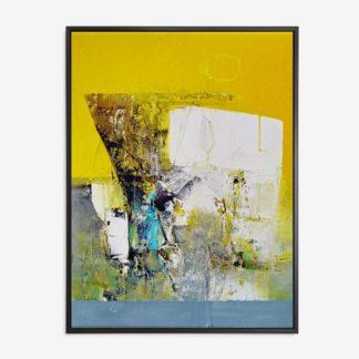 Yellow Abstract - Tranh canvas trừu tượng treo tường 60x80 cm