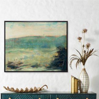 Núi xanh - Tranh canvas có khung treo tường