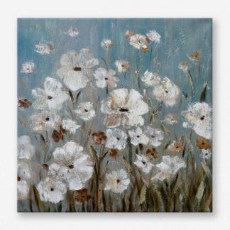Hoa Trong Nắng Sớm - Tranh canvas treo tường 50x50 cm