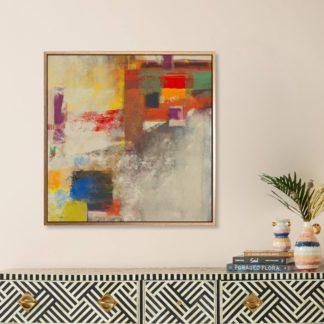 Modern colorful - Tranh canvas treo tường 80x80 cm