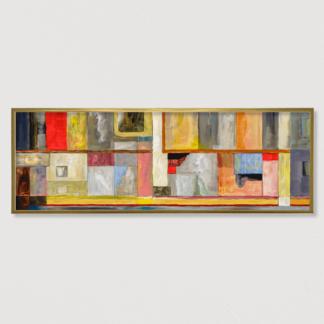 Mảng Màu - Tranh canvas treo tường có khung 50x150 cm