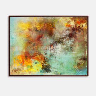 Cơn bão sắc màu - Tranh canvas trừu tượng 60 x 80 cm