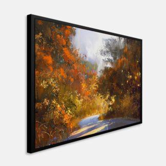 Con đường lá đỏ - Tranh canvas phong cảnh 50 x 70 cm
