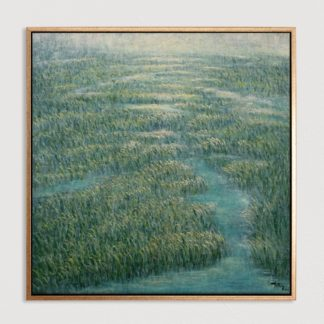 Cánh Đồng Năng - Tranh vẽ sơn dầu 100x100 cm