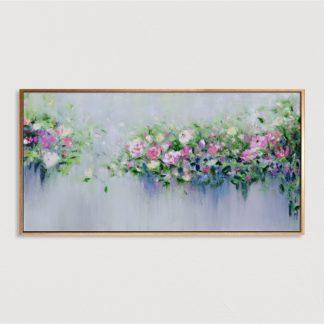 Tranh sơn dầu Giàn Hồng 70x140 cm