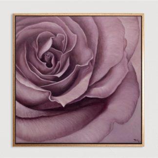 Hoa Hồng Tím - Tranh vẽ sơn dầu 110x110 cm