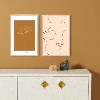 Bộ 2 tranh canvas treo tường Lá Nhỏ 40x60 cm/tranh