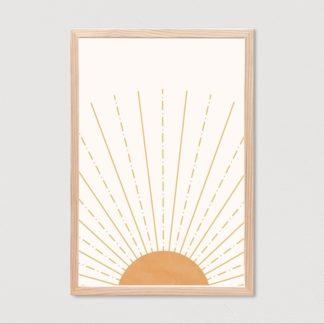 Bộ 3 tranh canvas có khung Ngày Mới 40x60 cm/tranh