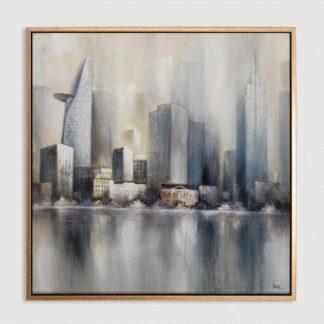Sài Gòn - Tranh vẽ sơn dầu100x100 cm