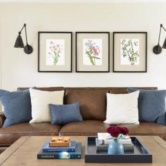 Bộ 3 tranh khung kính Jasmine Flower 40x50 cm/ tranh