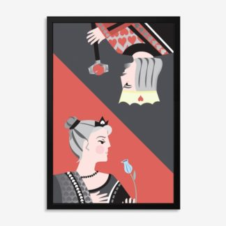 Bộ 2 tranh khung kính treo tường Poker 50x70 cm/tranh