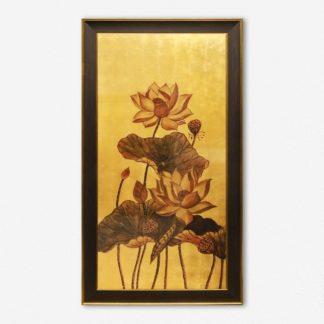 Tranh quà tặng Sen Đại Lộc 40x70 cm