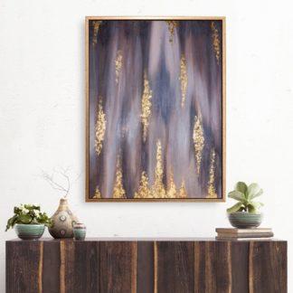 Ruby - Tranh ánh kim sơn dầu treo tường 60x80 cm