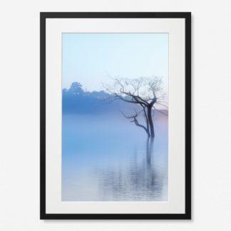 Bộ 2 tranh khung kính treo tường Sương Mây 40x60 cm/ tranh