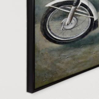 Xe 67 - Tranh vẽ sơn dầu 100x100 cm