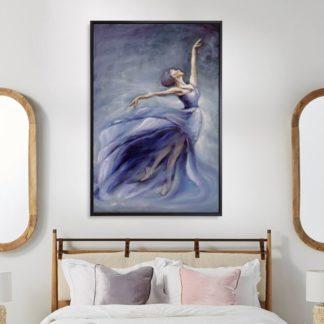 Vũ khúc chiều tím - Tranh vẽ sơn dầu 80x120 cm