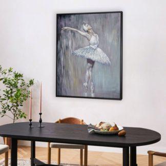 Thiên Nga Trắng - Tranh vẽ sơn dầu 80x120 cm