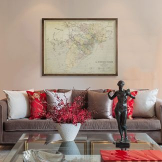 Francaise map  - Tranh Canvas treo tường