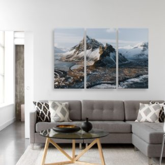 Bộ 3 tranh canvas Snow mountain 40x80 cm/tranh