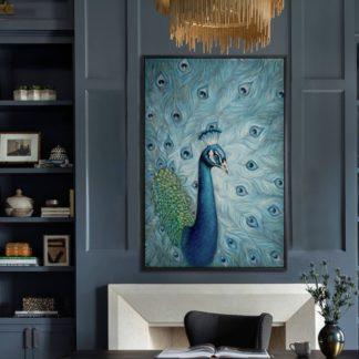 Khổng Tước - Tranh vẽ sơn dầu 80x100 cm
