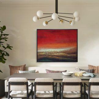 Hỏa - Tranh vẽ sơn dầu 80x100 cm