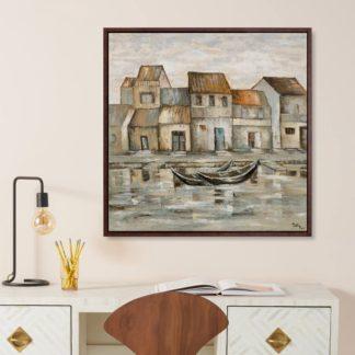Hội An Xưa - Tranh vẽ sơn dầu 100x100 cm